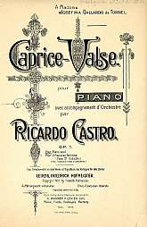 This 113 year old sheet music was printed in Germany for sale by the A. Wagner Y Levien Suc company.  As I personally speak no Spanish or German, and have no musical aptitude at all, I'm truly at a loss to provide much background information on this item.