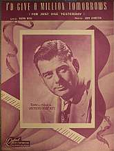 This vintage sheet music, published by the Oxford Music Corporation of New York City, was scored by Jerry Livingston, and the lyrics were written by Milton Berle.  This music was initially recorded and featured by Arthur Godfrey. It is arranged for piano