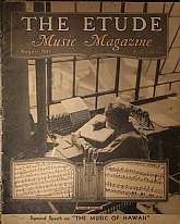 "This is the August 1937 issue of ""The Etude Music Magazine"", which was first published in 1883, continuing to 1957.  This magazine has a wide range of appeal, students of music, professional musicians, teachers of music, and music history, colle"