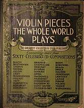 This one hundred year old collection of violin pieces will be appreciated by most any person that plays the instrument.  As is shown in the images, included in the book are the compositions of thirty-six of the greatest violin virtuosos, from Bach to Wien