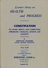 Constipation? Yes, constipation. This 1952 book, part of a larger lecture series focuses in on constipation. I'm honestly not sure who the intended audience for this listing should be, but probably some sort of health practitioner. Also, maybe someone tha