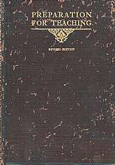 This antiquarian book, 101 years old at this posting, is a teacher training guide for the Sunday School Teacher, approved by The Committee On Education Of The International Sunday School Association.  It was at that time considered to be standard course f