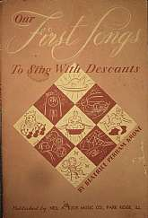 This 1949 instructional manual was written to help with the teaching of children to sing with descants.  The back of this book has a page devoted to suggestions to teachers.  This will probably be a valuable tool to any primary school teacher tasked with