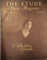 "This is the September 1936 issue of ""The Etude Music Magazine"", which was first published in 1883, continuing to 1957. This magazine has a wide range of appeal, students of music, professional musicians, teachers of music and music history, coll"