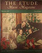 "This is the December 1937 issue of ""The Etude Music Magazine"", which was first published in 1883, continuing to 1957. This magazine has a wide range of appeal, students of music, professional musicians, teachers of music and music history, colle"