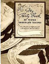 A chocolate cookbook, or at least a chocolate-colored cookbook!  This 1938 cookbook, published by General Foods, is printed in tasty chocolate hues.  It will be a welcome addition to your library of cookbooks.  This cookbook also has one page of advertisi