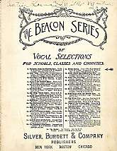 "This antiquarian music book, ""The Beacon Series of Vocal Selections for Schools Classes, and Choruses"", featuring the ""Bridal Chorus"" appears to be a teaching aid for the director or teacher of a high-school chorus.  This booklet will"