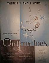 "This vintage sheet music appears to be designed for piano, guitar, ukulele and banjo.  I believe the original production was that of ""On Your Toes"", directed by Worthington Minor and choreographed by George Balanchine.  This four page sheet shou"