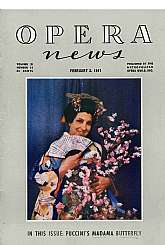 "This is a set of seven issues of ""Opera News"" published by the Metropolitan Guild, Inc.  The issues and dates of publishing are:     Volume 11, Number 16, dated February 3, 1947     Volume 12, Number 7, dated December 1, 1947     Volume 12, N"