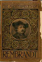 This antiquarian art book was published in 1907 by Gowan and Gray, Ltd and printed by Carson and Nicol of Glasgow.  This book is a collection of sixty black and white plates of works by Rembrandt.  While it is difficult to improve on a book of this subjec