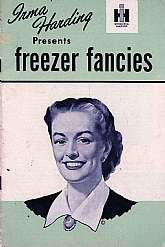 This 1950 cookbook was published by the International Harvester company to accompany and promote their refrigerators and freezers.Not only will most collecters of cookbooks cherish this unique cookbook, but probably any employees or former employees of IH