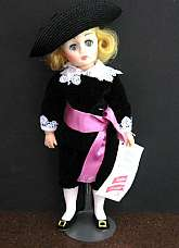 This wonderful doll has never been taken out of the box, except for these photos.  It is in excellent condition.The 12