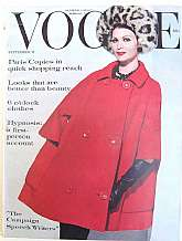 Vintage VOGUE September 15, 1960232 PagesA great thick edition of fashion in the 1960's.  Paris Copies and evening clothes.  Wonderful articles on The New Britain, Marilyn Monroe and Clark Gable, Tammy Grimes, Campaign Speechwriters and much more.