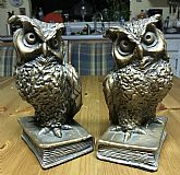 Stunning Vintage Mid-Century pair of Owl Bookends by universal statuary corp 1962