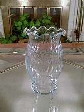 Vintage Clear Fenton Pressed Glass Vase, Swirl Pattern, Hand Blown, Ruffle EdgeHand Blown, Ruffled EdgeMy goal is to keep my customers satisfied so please contact me with any questions you may have. Thank you for visiting our store and have a wonderf
