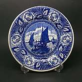 Boch Belgium Delft Blue Royal Sphinx Sailboat & Windmill Dutch Landscape Decorative wall plate.This Boch Delft Blue decorative plate is in excellent vintage condition with no visible chips, cracks or damage to the beautifully hand painted sailboat a