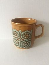 Vintage C & E Pottery MugBrown and Green colormade in England