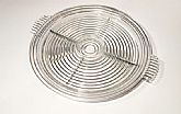 Vintage Anchor Hocking Mannattan pattern divided serving tray clear glass with handles.
