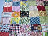 Vintage 1970s patchwork Quilt top for doll bedgood conditionneeds to be completed this is just the patchwork topmeasures 44 1/2