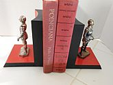 Antique Armour Book Ends