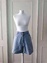 "Levis Strauss 1980's vintage blue denim high waisted relaxed fit shorts with front and back pockets and zip and button fastening in size 14Measurements in inches Waist: 34""Hips: 44""Length: 19""Material: 100% Cotton In very good vint"