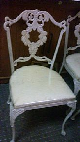 Chippendale  style metal chairs