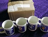 Morton Salt Ceramic Promotional Coffee Cups