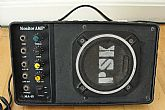 Portable monitor AMP MA-15, 4 colored knobs  (treble, bass, volume AUX.  and on off power switch. Good used condition. Works very well.