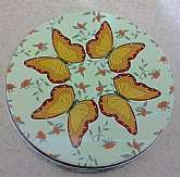 "This tin butterfly box is simply beautiful.  It is approximately 5"" in diameter and in great vintage condition.  Great addition to any butterfly lovers home!Thanks for looking!"