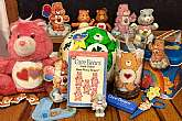 This listing is for a huge lot of vintage Care Bear items!  You will receive all items you see in photos.  This lot includes the following:1 blue plastic fold up comb 1 semi deflated Good Luck Bear rubber ball 2 wooden Tenderheart plaques 1 Secret Bea