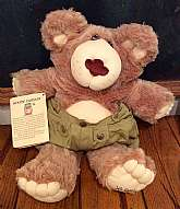 "This listing is for 1985 ""BOONE"" Furskins Bear.  This bear is part of Coleco Cabbage Patch Kids collection made by Xavier Roberts.  He comes with his original booklet which tells you all about Boone and how he came about.  He measures  20"""