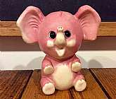 "This listing is for a 5"" tall pink elephant coin bank made in 1977 by Ohio Arts.  This adorable elephant is fully vinyl with her original rubber coin stopper.  She is in great condition!Thanks for looking!"