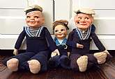This listing is for a set of 3 Nora Wellings sailor dolls.  These dolls were used in the 1940s-50s to advertise ocean liners of that time period.  Each doll has the name of an ocean liner on its hat to advertise specifically for that ocean liner.  The two