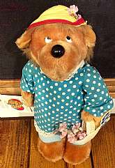 This listing is for Berenstain Bears Mama Emotions!  She was made by Mattel in 1984.  She still has her original tag and is complete in her original outfit.  She measures 13