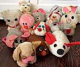 This listing is for a huge lot of vintage Russ Berrie plush animals!These are all Russ dolls and were all made in the 1970s.With your purchase you will receive all you see in the photos which includes the following: