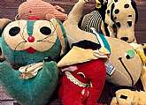 This listing is for 7 vintage plush/Sawdust animals!!These adorable animals were made by R. Dakin and were made in Japan.  Some are