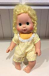 "This listing is for Lemon Meringue Blow Kiss doll!This 13"" scented doll was made by Kenner in 1982 and she is a Strawberry Shortcake doll.When her felt body is squeezed, this adorable doll give you scented kisses. She is in overall good, used vint"