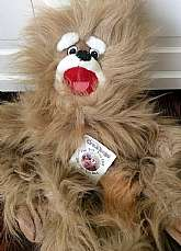 "This listing is for a giant 37"" long Crazhugs puppet!!This plush hand puppet was made in 1992 by Wynn Miller.  This puppet is a great hugger as his feet can be clasped together by two plastic pieces on either foot so he can hang on tight. He still"