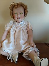 Shirley Temple: Bright Green Eyes: 1996, Very clean, original clothing and shoes, signed on the back of head