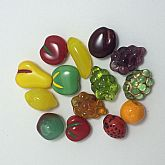 Vintage (new old stock) Czech Glass Fruit Beads.