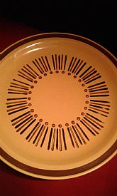 "set of 12 dinner plates  ""Moon Glow"""