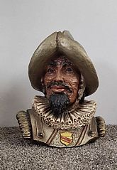 vintage 1967 conquistador bust statue #417 very rare universal statuary corp. chicago