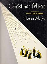 Book Title & Author(s): Christmas Music Transcribed for Piano Four Hands - Norman Dello JoioPublisher & Copyright Date: Edward B. Marks Music Company - 1968Type of Binding: trade paperback.Book Size & Number of Pages: Measures approximat