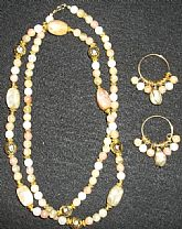 Vintage Necklace Earring Beads Set