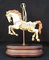 Vintage Carousel Horse w/ Ribbons