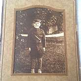 An Original Cabinet Card PhotographApprox size mounted in an original cardboard frame: 7 1/2