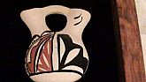 JEMEZ Pueblo Indian Pottery Anstract Mini Pottery on Frame Wall Decoration Small New Mexico On Clearance Now