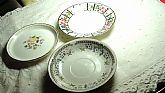 Vintage PORCELAIN Small Plates for Tea Bags Holder Lot of 3 Different England, F Lis Rose and China