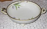 Antique Nippon Footed Bowl with Flowers Gilt China Porcelain On SaLe Now