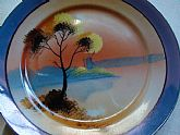 1920s Early Chikaramachi Noritake Hand Painted Luster Ware Plate Wall DEcor
